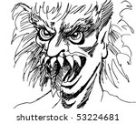 monster face | Shutterstock .eps vector #53224681