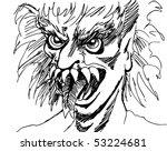 monster face   Shutterstock .eps vector #53224681