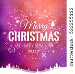 christmas and new year... | Shutterstock .eps vector #532255132