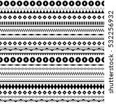 black and white ethnic tribal... | Shutterstock .eps vector #532256932