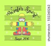 winter sport theme | Shutterstock .eps vector #532260262