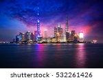 China Shanghai City Skyline At...