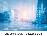 man analysis economy data on... | Shutterstock . vector #532263106