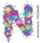 color splatter n | Shutterstock .eps vector #53226640