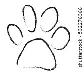 dog paw scetch vector isolated | Shutterstock .eps vector #532276366