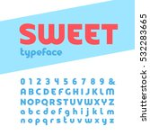 bold font. vector alphabet with ... | Shutterstock .eps vector #532283665