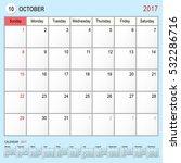 2017 calendar planner design ... | Shutterstock .eps vector #532286716