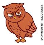 owl cartoon | Shutterstock .eps vector #532290586