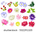 flower set | Shutterstock .eps vector #532291105