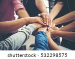 teamwork togetherness... | Shutterstock . vector #532298575