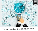 business technology... | Shutterstock .eps vector #532301896