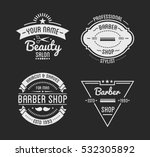 set of vintage barber shop logo ... | Shutterstock .eps vector #532305892