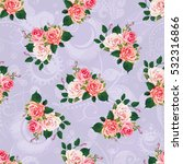 seamless floral pattern with... | Shutterstock .eps vector #532316866