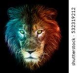digital fantasy fractal design... | Shutterstock . vector #532319212