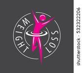 running man  weight loss vector ... | Shutterstock .eps vector #532322206