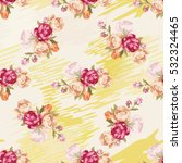 seamless floral pattern with... | Shutterstock .eps vector #532324465