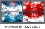 christmas and new year gift... | Shutterstock .eps vector #532333678