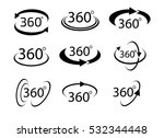 collection of angle 360 degrees ... | Shutterstock .eps vector #532344448