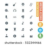media icon set clean vector | Shutterstock .eps vector #532344466