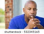 depression.  sad african...   Shutterstock . vector #532345165