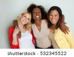multicultural woman smiling. | Shutterstock . vector #532345522