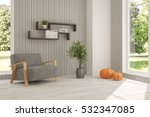 white room with armchair and... | Shutterstock . vector #532347085