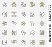 productivity colorful icons.... | Shutterstock .eps vector #532348702