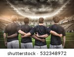3d rugby stadium against rugby... | Shutterstock . vector #532348972