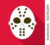 hockey goalie mask icon. flat... | Shutterstock .eps vector #532351855