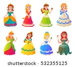 princesses girls vector cute... | Shutterstock .eps vector #532355125