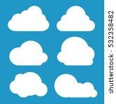 cloud icon set  vector... | Shutterstock .eps vector #532358482