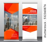 roll up business brochure flyer ... | Shutterstock .eps vector #532360876