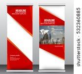 roll up business brochure flyer ...   Shutterstock .eps vector #532360885