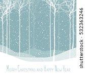 merry christmas postcard. calm...   Shutterstock . vector #532363246