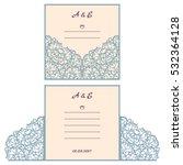 wedding invitation or greeting... | Shutterstock .eps vector #532364128