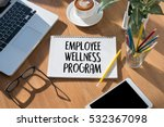 employee wellness program and... | Shutterstock . vector #532367098