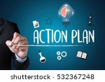 action plan    action plan... | Shutterstock . vector #532367248
