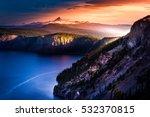 Mt Thielsen At Sunrise Crater...