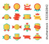 badge vector emblem collection. ... | Shutterstock .eps vector #532382842