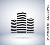 multistory building icon... | Shutterstock .eps vector #532383988
