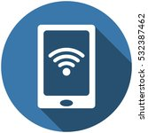 smartphone icon vector flat... | Shutterstock .eps vector #532387462