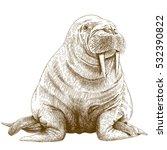 vector antique engraving...   Shutterstock .eps vector #532390822