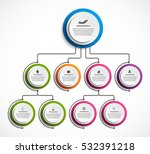 infographic design organization ... | Shutterstock .eps vector #532391218