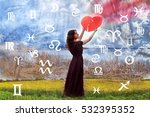 astrology  twelve zodiac signs | Shutterstock . vector #532395352