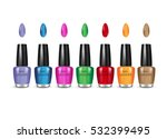 nail polish in different colors.... | Shutterstock .eps vector #532399495