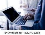 business adviser analyzing... | Shutterstock . vector #532401385