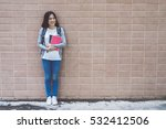 happy teen high school student | Shutterstock . vector #532412506