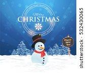 merry christmas landscape ...   Shutterstock .eps vector #532430065