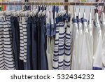 hanging skirts and shirts on... | Shutterstock . vector #532434232