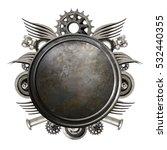 metal background. metal disc   Shutterstock . vector #532440355